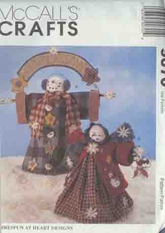 "Snowman Snow People Figures 18"" & 15"" Tall McCall's 9070 Crafts Pattern"