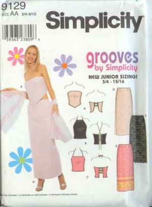 Simplicity Grooves Collection Junior Sizes 3/4-15/16  Long Skirt & Knit Tops
