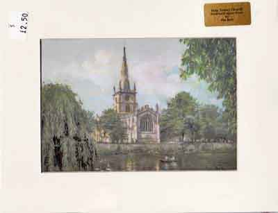 Three Matted Art Prints - Stratford-upon-Avon Collection from Gatehouse Prints, Yorkshire, England