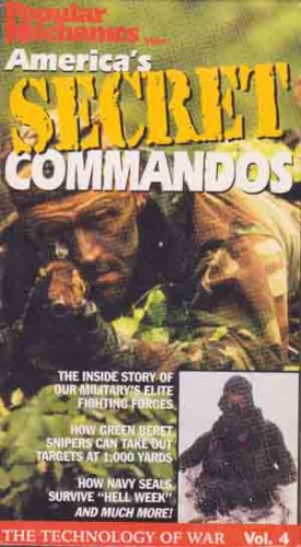 America�s Secret Commandos VHS  - Military - Navy Seals - Green Berets