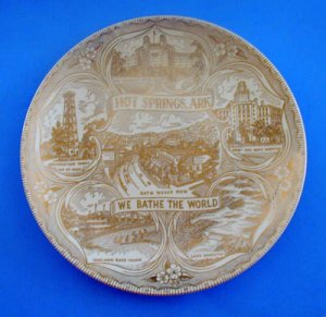 Vintage Hot Springs, Arkansas Collector Plate