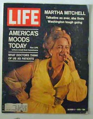 1970 October 2  Life Magazine:   Martha Mitchell.  NFL. Alan Arkin. Arab War