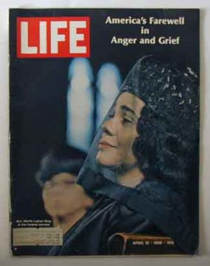 1968 April 19 Life Magazine  Martin Luther King Funeral & Riots Smothers Bros & Ed Sullivan Ad