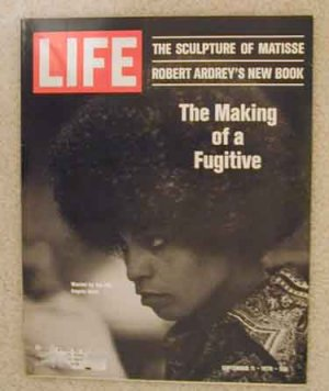 1970 Sept 11 Life Magazine Angela Davis F.B.I. Most Wanted. Matisse Sculpture. Vince Lombardi