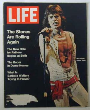 1972 July 14 Life Magazine. Mick Jagger.  Rolling Stones.  Barbara Walters.  Vietnam Refugees