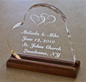 Wedding Cake Topper Personalized Heart