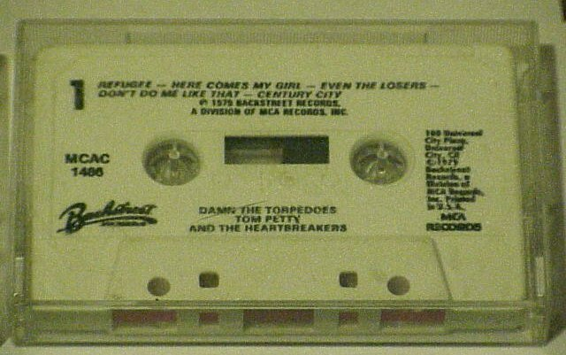 Damn The Torpedoes(Backsteet) Tom Petty (Cassette 1979)