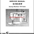 Singer 750, 756, 758 Touch & Sew Service And Repair Manual