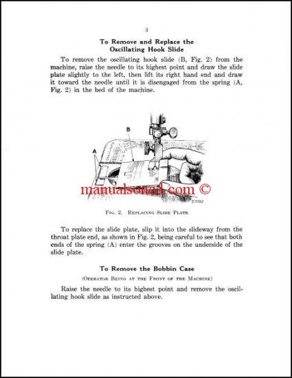 Singer 66 - 99 - 185 Sewing Machine Service Manual
