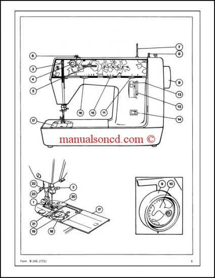 Singer Genie 353 354 Sewing Machine Service Manual Manual Guide