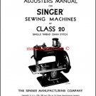 Singer 20 Class Sewing Machine Adjusters Manual