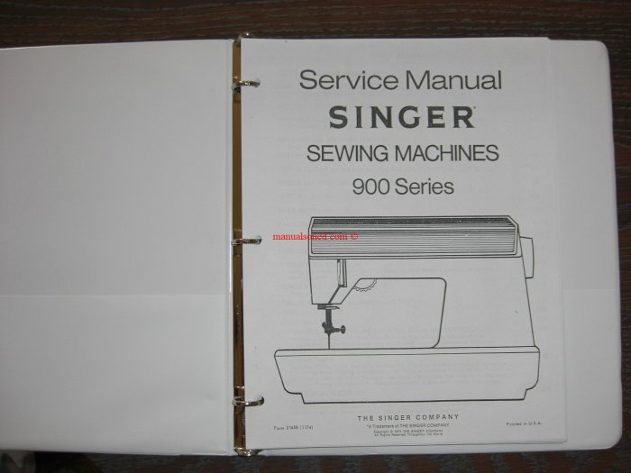 Singer 900 Sewing Machine Service Manual