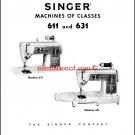 Singer 611 - 631 Sewing Machine Service Manual