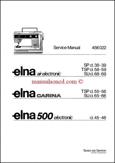ELNA Carina / Air Electronic Service and Repair Manual