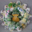 Green Frog Diaper Cake Wreaths
