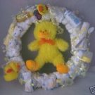 Yellow Duck Diaper Cake Wreaths