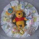 Winnie the Pooh Diaper Cake Wreaths