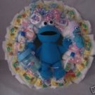Pink/Red Elmo Sesame Street Diaper Cake Wreaths
