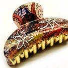 HA00345-RD Woman Fashion Hair Claw Clip Flower Artsy Crystal Red Small NEW
