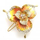 HA00017 Austrian Crystal Hair Claw Clip Jewelry Gold Yellow NEW