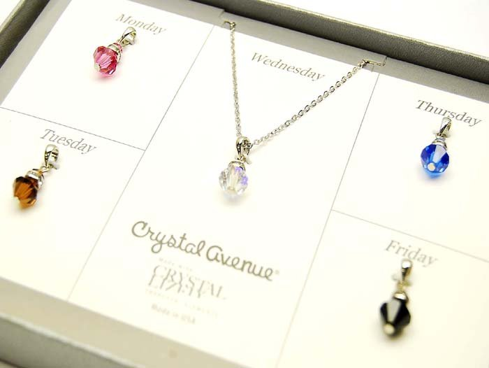 GS00008 Swarovski Crystal Necklace & Pendants Gift Set