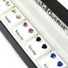 GS00004 Swarovski Crystal Stud 5 Earrings Heart Gift Box Set