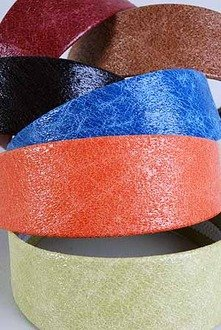 1 Hair Headband Leather Textured Solid NEW