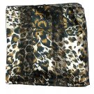 Woman Neckerchief Chiffon Scarf Leopard Taupe