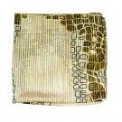 Woman Neckerchief Chiffon Scarf Animal Snake Skin Olive