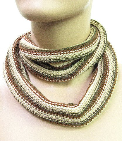 Fashion Skinny Scarf Neck Warmer Beige