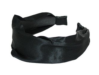 Fashion Woman Headband Satin Black NEW