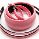 Woman Fashion Headband Bangle Earrings Set Pink