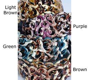 1 Fashion Hair Headband Acrylic Swirl Design Creme NEW