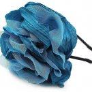 Woman Fashion Fabic Flower Corsage Headband Turquoise