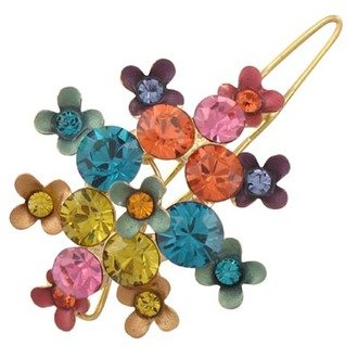 Austrian Crystal Hair Clip Jewelry Multi-Colored NEW