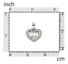Pave CZ Heart Pendant 925 Sterling Silver