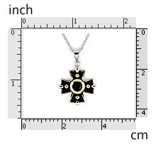 """2 Tone Vintage Cross 16"""" Necklace 925 Sterling Silver"""