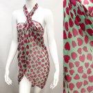 Beach Sarong Pareo Wrap Heart Fuchsia Pink Green SFBP021