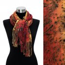 Leopard Animal Print with Fringe Fashion Trendy Scarf Red  SF00210RD