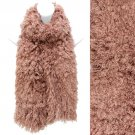 Soft Luxurious Synthetic Faux Curly Fur Long Puffy Scarf Pink SF00256PK