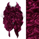 Silk Feel Velvet Stretch Ruffle Fashion Scarf Soft Glamorous Beautiful Pink SF00259FU