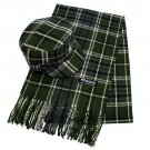 Classic Fashion Plaid Pattern Design Newsboy Hat and Soft Scarf Set Green Black  HT00007GN