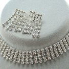 Bridal Jewelry Set Austrian Crystal Rhinestone Choker 5 JS00123