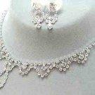 Bridal Jewelry Set Austrian Crystal Rhinestone White CL JS00128