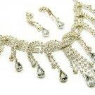 Bridal Jewelry Set Chunky Teardrop Crystal Rhinestone L JS00149