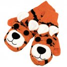 Knitted Fun 3D Animal Soft Mittens Gloves Orange Bengal GL00007BG