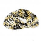 Bead Wire Wrap Bracelet Gold Black Rhodium  BR00268