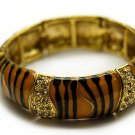 Crystal Studs Bangle Stretch Bracelet Zebra Gold  BR00210-5GBR