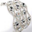 Bridal Jewelry Crystal Rhinestone Bracelet Stone Wide   BR00288-CS