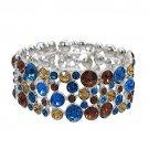 Bridal Bracelet Austrian Crystal Rhinestone Pearl White  BR00295-MT